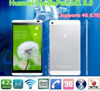 Original Huawei MediaPad M1 8.0 Android 4.2 quad core 1.6GHz 1GB RAM 8GB ROM 1280X800 phone call tablet pc 3G(WCDMA) 4G(LTE)