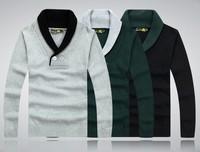Free shipping Men's Slim 100% cotton  Fashion V-neck sweater thick sweater