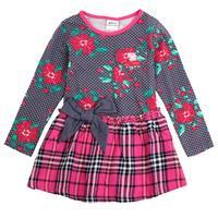 2014 Nova kids dress girls winter sweatshirt printed beautiful flower hot sale dress for baby girls vestidos winter casual dress