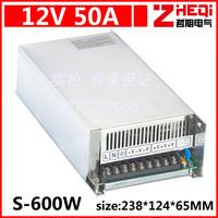 LED switching power supply, 12 v50a centralized power supply ac 220 v dc 12 v model S - 600-12