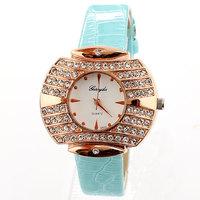 Women Wrist Quartz Watch Rhinestones Luxury Casual Dresses New Fashion 2013 Leather Watchband Wholesale Dropship
