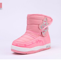 2014 winter snow boots female baby butterfly antiskid Foot length 14 ~ 16cm