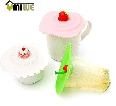 Magic Originality Leak Proof Silicone Tea Coffee Mug Cup Lid ,Random Color(China (Mainland))
