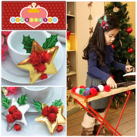 Wholesale 20pcs Girls Christmas Hair Clips with Gold Silver Metallic Star Cute Christmas Hair Accessories and Gifts