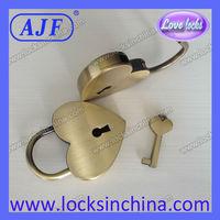 2014 popular lover  heart shape pad lock  AJF brand A01-021AB