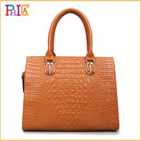 Free Shipping 2014 New Genuine Leather Women's Handbag Fashion Crocodile Pattern Handbag Cowhide Luxury Shoulder Bag FG1996