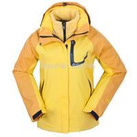 Free Shipping Outdoor Sports Waterproof Windstopper Winter 3-in-1 Suit Jacket Fashion Ladies Breathable Warm Wind Sportswear