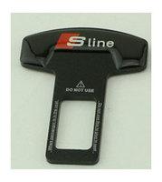 2PCS Car S LINE Logo  Safety Seat Belt Buckle Safety Belts Clasp Plug Alarm Canceller Stopper