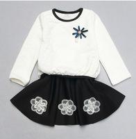 2014 Autumn Korean children dress children's clothing brand dress flower girls dress factory direct child of mixed colors