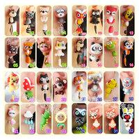 New Hot 2pcs/lot Womens DIY Polymer Clay Earrings Jewelry Ladies Girls Cartoon 925Sterling silver Earring Gift