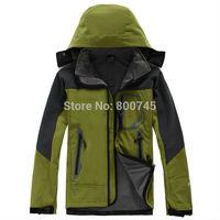 Free Shipping 2014 New Men Winter Waterproof Windproof Coat Jacket Fashion Man SoftShell Windstopper Hooded Outerwear