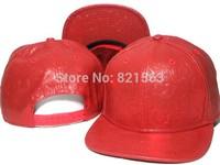 PU Leather Snapback Strapback cap  For Men And Women Fashion Blank Flat Brim Cap Snakeskin PU Fabric Snapback Hat 2014 new style