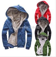 2014 New Men's Plush Thick Warm Overcoat Winter Coat Fleece & Men's Cotton Padded Jacket free shipping A635