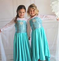 2014 fashion handmade Spot foreign trade snow Romance frozen dress for girls the Christmas  best gift