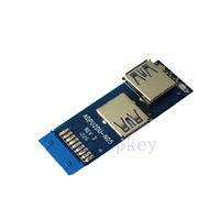 19pin to Dual USB3.0 Adapter card, T type