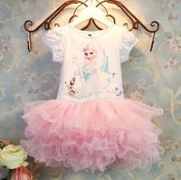 Frozen Elsa Anna Snow Adventure Romance Dresses For Girls Christmas Gift Princess Ball Grown Free Shipping
