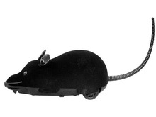 Radio Control R/C Simulation Plush Mouse with Remote Controller for Halloween (Black)(China (Mainland))