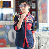Tong Qu cy14096 male children children's shirt sleeved shirt Hitz students coat