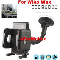 PVC Holder Car Mount Holder Sunction Window Mobile Phone Holder +Vent Clip For  Wiko Wax