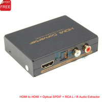 HDMI to HDMI + Optical SPDIF + RCA L / R 2CH 5.1CH Audio Extractor Converter Adapter Audio Splitter SP Free Shipping