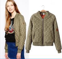 2014 hot sale free shipping fashion causal women winter baseball jacket coats