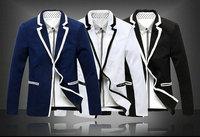 New 2014 Autumn Winter Men Suit Jacket Fashion Casual British temperament Slim Men Suit Jacket Free Shipping Promotions