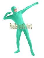Lycra Spandex Zentai Suits Unisex Open Face Lycra Spandex Catsuit &birthday Party suit