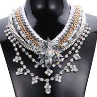 Hot Selling Mulitlayer Braided Chunky Choker Classic Crystal Shourouk Necklace Fashion Women Luxury Party Wedding Jewelry