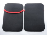 "7inch Laptop Bag Pc Liner Sleeve Black Red Neoprene Sleeve Bag Case For 7""Ebook Apad Tablet PC"