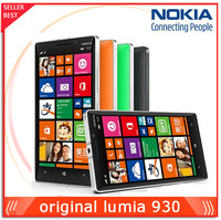 Unlocked Nokia Lumia 930 Original Cell phone 20MP Camera LTE NFC Quad-core 2GB RAM 32GB ROM Multi language Free Shipping