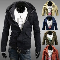 Freeshipping 2014 fashion man jacket New winter double brought big yards men's clothing design special coat jackets for men JK29