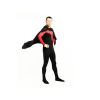 Red And Black Lycra Spandex Super Hero Catsuit Costume Zentai Unisex Party Costume Superhero Costume Halloween Costume
