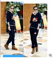 2014 women's tracksuits women sport suits sportwear casual set with a hood fleece sweatshirt three piece set