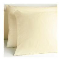 2 pieces/lot natural color 20x32inch 52% polyester, 48% cotton pillowcases