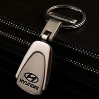 2PCS Free Shipping Durable Mini car logo keychain for HYUNDAI zinc alloy sports trinkets Key holder (have other brand)