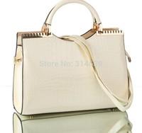 New Vintage Korean Style Women Crocodile Grain Leather Handbags Totes  Shoulder Bags Messenger Cross body  Fashion