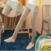 Hot!  2014 New Fashion Leggings All-match Paragraph! Agaric Edge Fishplate Culottes Mermaid Skirt Leggings 3 Colors