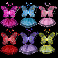 Free Shipping butterfly wing set(wing,headband,fairy wand)/Angel wing/Party accessories,Various colours,
