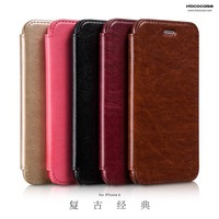 1pcs HOCO Business Style Retro Classic Series For iphone6 PU Leather Case,Side open Flip Cover For iphone 6,Drop order support