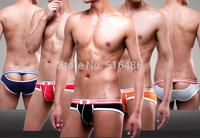 5 colors Bikini sexy men panties g-string thong Penis sheath gay male jockstrap model briefs open ass   underwear HOT