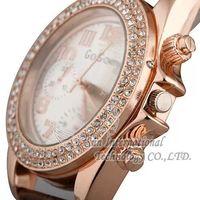 2014 New Rhinestone design Watches  Leather Quartz Watches gogo 1959  Rhinestone Wristwatches Fashion Wristwatches Dropship