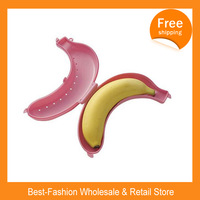 Free Shipping 12pcs/lot Cute Banana Fruit Protector ,Cheap Guard Banana Container Outdoor Storage