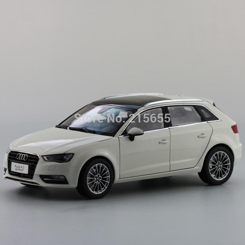 ORIGINAL MODEL,1:18 Volkswagen VW AUDI A3 SPORTBACK 2014,WHITE(China (Mainland))