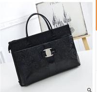 new European and American fashion handbags embossed crocodile pattern retro stone pattern shoulder bag handbag