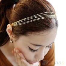 Women's Multilayer Alloy Tassel Chain Jewelry Hair Hoop Headpiece Hair Band 1LEN(China (Mainland))