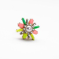 Fashion fashion accessories candy color block luxury queen of simulated-pearl ring