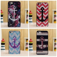 Custom Cases Colorful Anchor Designs Printed Hard Mobile Phone Case For iPhone 5 5S Capa Cover Cases For iPhone5S Best Selling