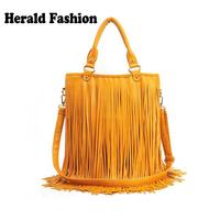 Leather Fringe Bag For Women Handbag Medium Fashion Casual Desigual Bag Bolsas Femininas Tassel Bag Shoulder Messenger Bag Totes