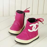 2014 winter snow boots plus velvet baby girls  Foot length 13 ~ 15cm