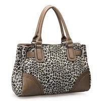 2014 Fashion Women Handbag Smoked Hollow Leopard Kitten Series Dual-use women PU leather handbag vintage shoulder bag No.170535